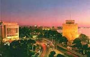 Thessaloniki View at Night
