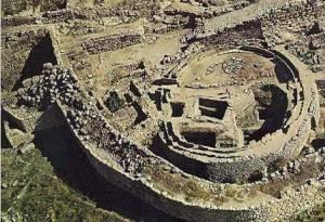 Aerial View of Granary in the Acropolis of Mycenae