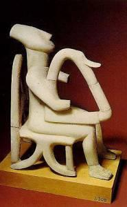 Cycladic Idol (Harpist-Athens Archaeological Museum)