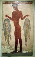 Santorini Akrotiri Fisherman Frescoe