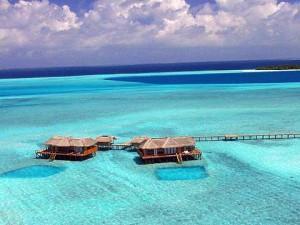 Hilton Maldives Resort & Spa Sunset villa aerial photo