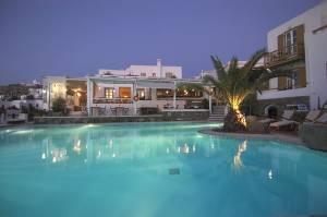 Semeli pool by night