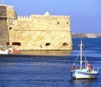 Heraklion-Entrance to the Old Harbor