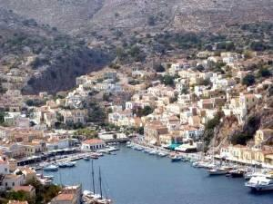 Symi seen from afar.