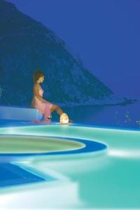 Santa Marina Mykonos Night Pool View