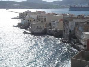Syros, Ermoupoli: Contre-Lumiere from our hotel room window
