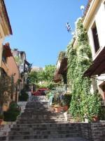 Plaka: Uphill Road under the Acropolis Rock