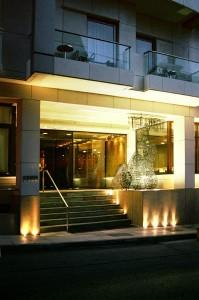 Herodion Hotel Exterior By Night