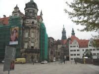 Δρέσδη, Γερμανία: Κτήρια της πόλης (Το ένα καλυμμένο για εργασίες συντήρησης)