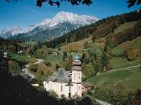 Γερμανία: Η εκκλησία της Gern Maria, στο Berchtesgaden, κάτω από το όρος Untersberg