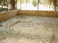 The foundations of an Early-Helladic building (dated 2300-2200 BC), semielliptical in shape