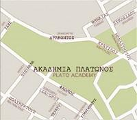 Plato Academy: Map of the Area