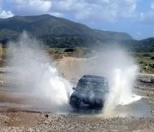 Rhodes Land Rover Safari: Splash, and on we drive!