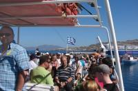 On board our Delos boat