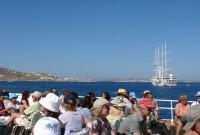 On board our Delos boat: The sundeck