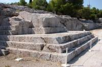 Pnyx Archaeological Site: Orator's Bema from the East