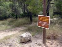 Malangavi Promontory, Perachora: Sign showing part of the Ancient road from Corinth-Therme (Loutraki)- Peiraeon (Perachora) to Heraion