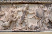The north frieze of the Treasury of the Siphnians: The Gigantomachy