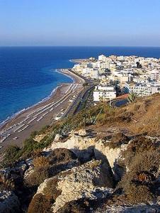 Rhodes, Ixia beach and town