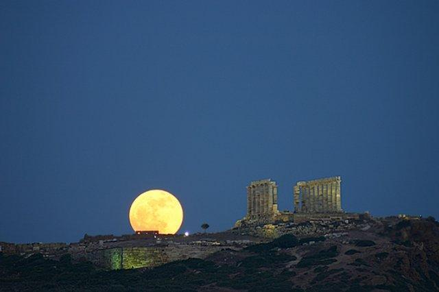 Sounion Full Moon