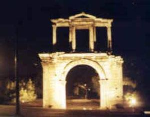 Athens Adrian\'s Gate at Night
