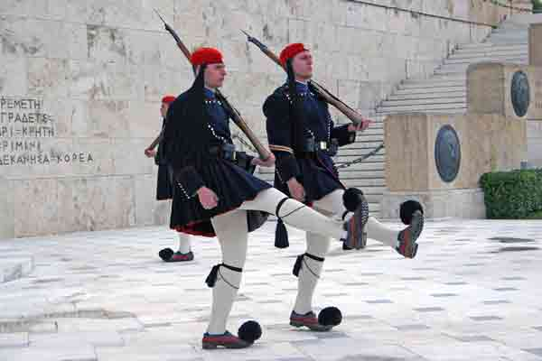 Athens Change of Guards at the Unknown Soldier\'s Monument in Syntagma Square