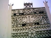 Τήνος, Βωλάξ: Διακόσμηση οικίας του χωριού επηρρεασμένη από τους περιστερεώνες