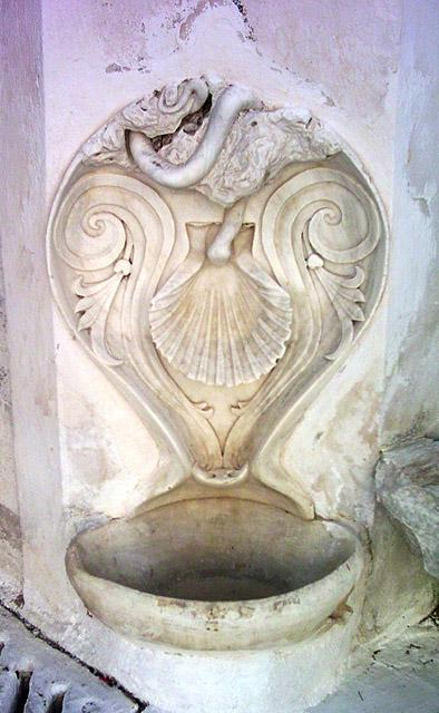 Tinos, Marble Fountain in Pyrgos Village