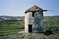 Tinos Old Windmill in Kambos Village
