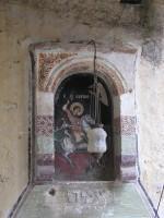 Μονή Αγίου Γεωργίου Φενεού: Εικόνα του Αγίου με Καντήλα