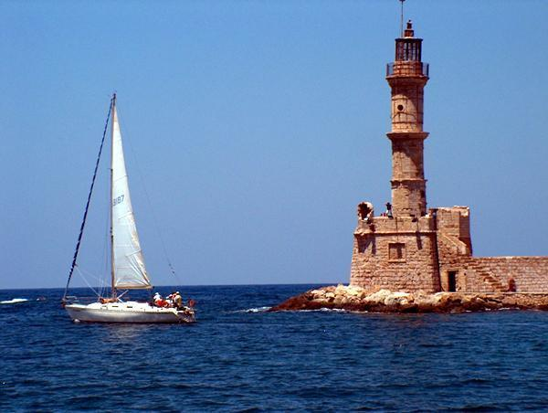 Chania Lighthouse at the Old Harbor