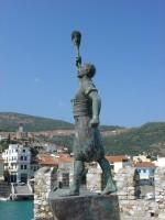 Nafpaktos Port: Anemogiannis Statue on the Western Rampart