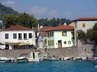 Nafpaktos Port: Houses on the east Side of the Port.