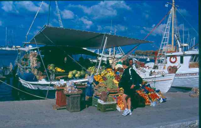 Aegina Market at the Harbor