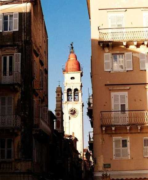 Corfu: the Belltower of Saint Spiridon\'s Church