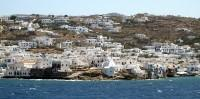 The view of Mykonos Town from the ship approaching the island is breathtaking.