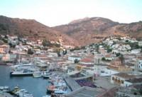 Hydra Panoramic View of the Harbor
