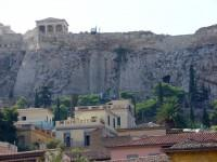 Part of Plaka Quarter under the Acropolis Rock