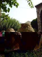 Big Jars in the Yard of Fetiye Mosque Museum in Plaka