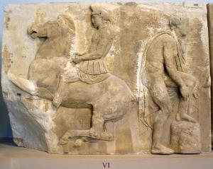 One of the stones of Parthenon Frieze