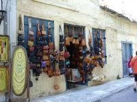 Leatherware shop in Plaka