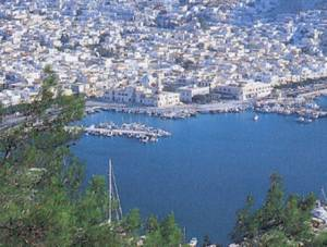 Kalymnos Panoramic View of Pothia Harbor