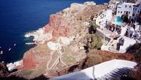 Cliffside view of Santorini
