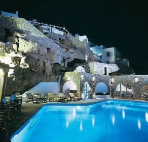 Kouros Pool View at Night