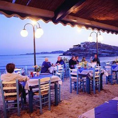 Naxos Dinner by the Sea