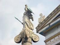 The Academy: Athena Statue Under the Protection of the Pediment Griffin of the Main Building