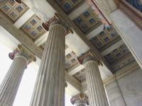 The Academy: Main Entrance Columns and Ceiling