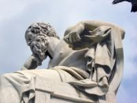 The Academy: The Statue of Socrates (Close-up)