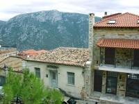 Delphi: Traditional and Modern Houses along the Main Street