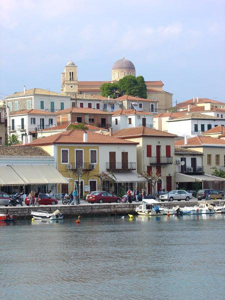 Galaxidi Port: Another View of Aghios Nikolaos Church On Top Of The Hill